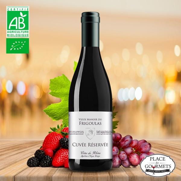 Vieux manoir du Frigoulas cuvée réservée vin bio