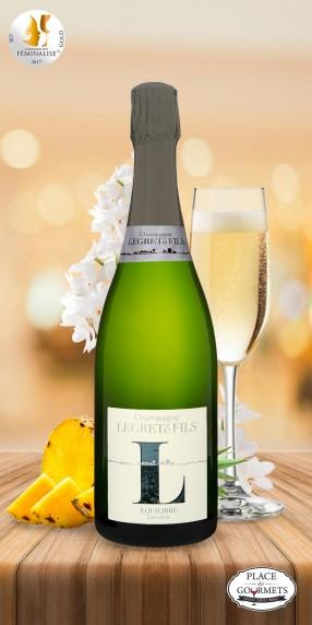 Champagne vegan extra brut Legret & Fils Equilibre