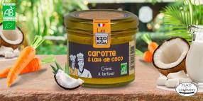 Crème à tartiner bio carottes au lait de coco