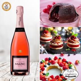 Champagne Marc brut rosé chéri