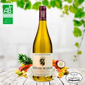 Château Maucoil vin blanc bio Côtes du Rhône Villages