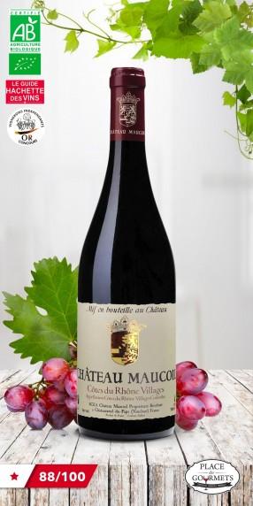 Château Maucoil vin rouge bio Côtes du Rhône Villages