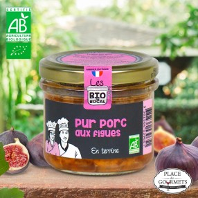 Terrine bio pur Porc aux figues