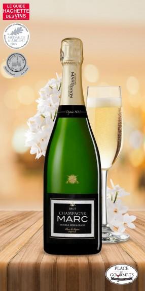 Champagne brut Marc initiale noir & blanc