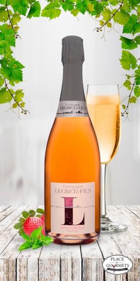 Champagne vegan rose Legret & Fils Corolle