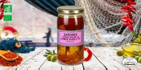 Sardines à l'huile d'olive bio au piment d'Espelette