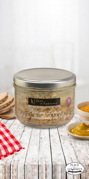 Terrine de lapin à la moutarde ancienne de Dijon